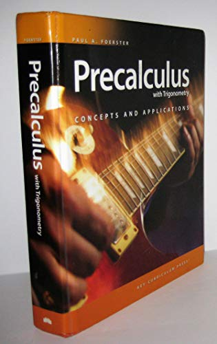 9781604400441: Precalculus with Trigonometry: Concepts and Applications - Student Edition (includes online access)