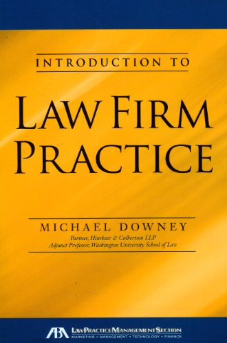 9781604428247: Introduction to Law Firm Practice