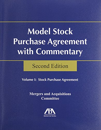 9781604429985: Model Stock Purchase Agreement With Commentary :2 Volume set