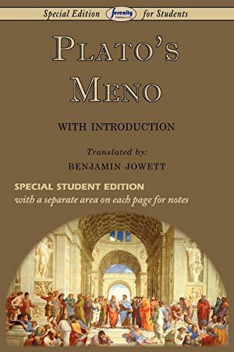 9781604507812: Plato's Meno (Special Edition for Students)