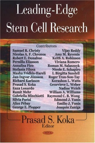 Leading-Edge Stem Cell Research: Samuel R. Christy;