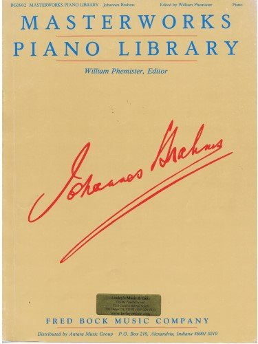 9781604619348: Masterworks Piano Library-Johannes Brahms