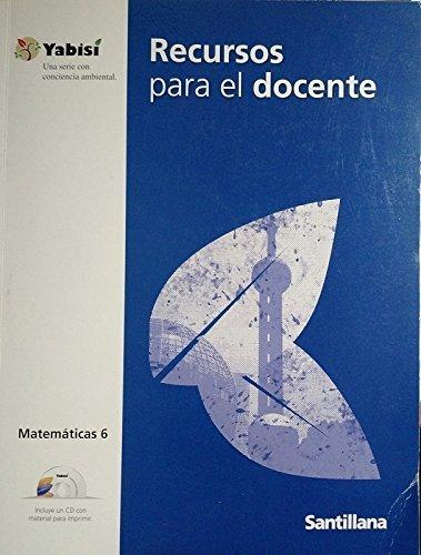 9781604845082: Recursos Para El Docente, Guia Docente Matematica 6 + Cd