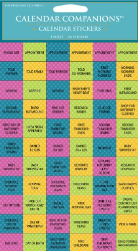9781604934519: Pregnancy Planning Stickers: For Your Calendar