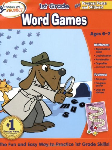 9781604991154: Hooked on Phonics First Grade Word Games Workbooks