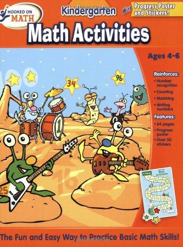 9781604991192: Hooked on Math Kindergarten Math Activities Workbook