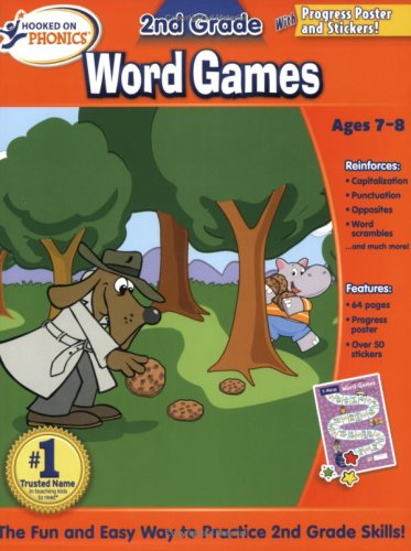 Hooked on Phonics 2nd Grade Word Games Workbook: Phonics, Hooked on