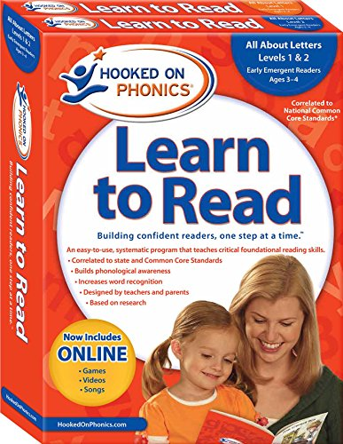 Hooked on Phonics Learn to Read - Levels 1&2 Complete: All About Letters (Early Emergent ...