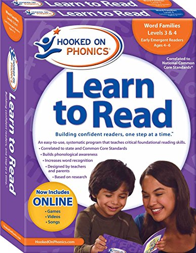 9781604991437: Hooked on Phonics Learn to Read - Levels 3&4 Complete: Word Families (Early Emergent Readers | Kindergarten | Ages 4-6)