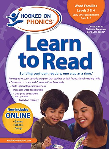 9781604991789: Amazon Exclusive Hooked On Phonics LTR Kindergarten Word Families 3&4 w/BONUS DVD