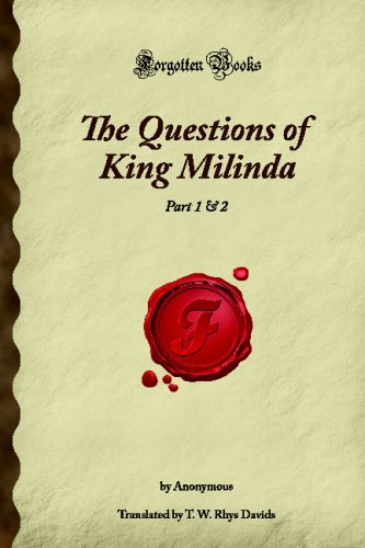 9781605061139: The Questions of King Milinda: Part 1 & 2 (Forgotten Books)