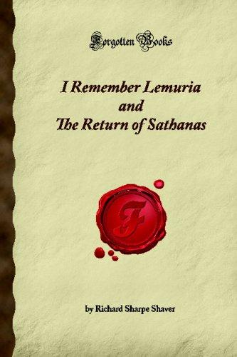 I Remember Lemuria and The Return of: Sharpe Shaver, Richard