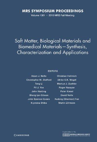 Soft Matter, Biological Materials and Biomedical Materials: Adam J. Nolte