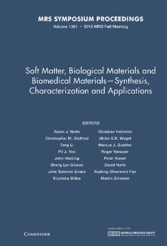 9781605112787: Soft Matter, Biological Materials and Biomedical Materials - Synthesis, Characterization and Applications: Volume 1301 (MRS Proceedings)