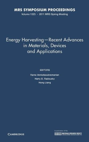 Energy Harvesting - Recent Advances in Materials, Devices and Applications: Volume 1325: Symposium ...