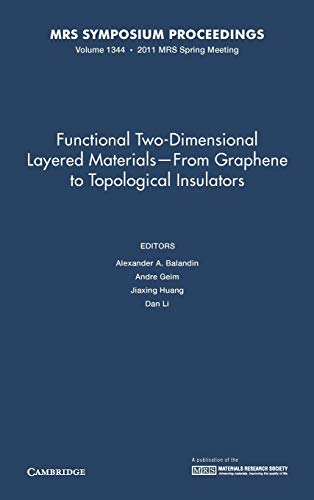 9781605113210: Functional Two-Dimensional Layered Materials - From Graphene to Topological Insulators: Volume 1344 (MRS Proceedings)