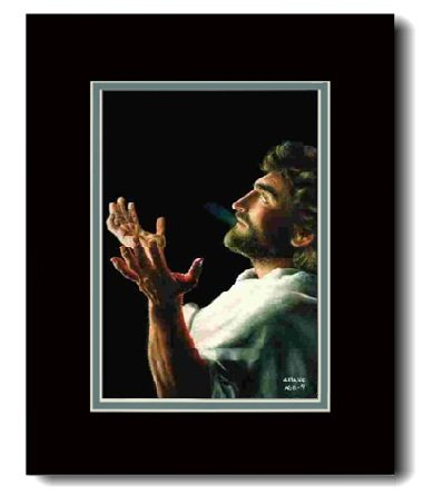 9781605168524: Father Forgive Double Matted, 16' X 20