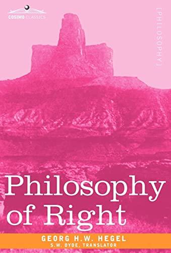 9781605204253: Philosophy of Right (Cosimo Classics Philosophy)
