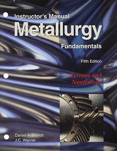 9781605250809: Metallurgy Fundamentals, Instructor's Manual