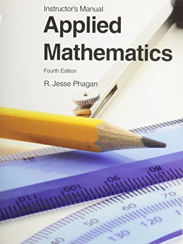9781605252803: Applied Mathematics Instructor's Manual