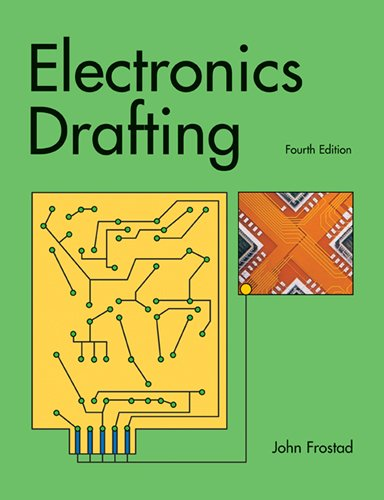 Electronics Drafting 9781605253480 Electronics Drafting provides basic instructions for creating wiring diagrams, schematics and logic diagrams, printed circuit board designs, enclosure drawings, and pictorial drawings. It begins with general topics, such as electronic symbols and component descriptions, and then progresses into specific applications.