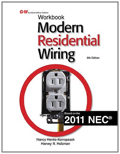 Modern Residential Wiring (Workbook): Holzman, Harvey N.,