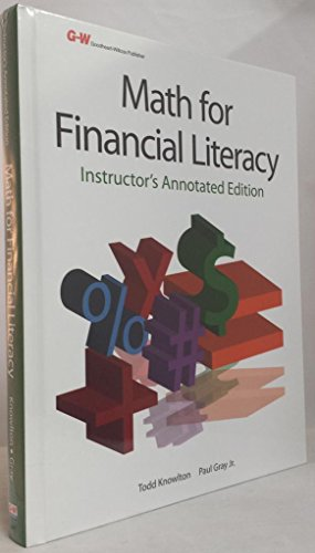 9781605257877: Math for Financial Literacy: Instructor Annotated Edition