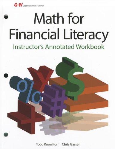 9781605259024: Math for Financial Literacy