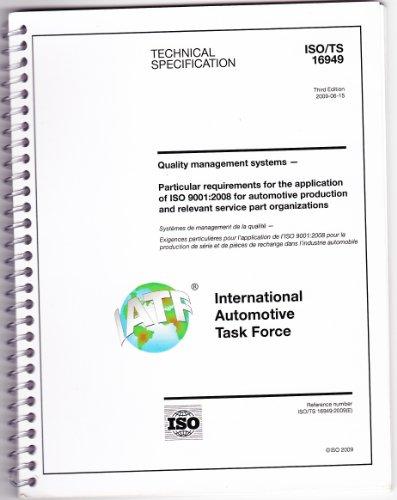 9781605341583: ISO/TS 16949 Third Edition 2009 spiral bound