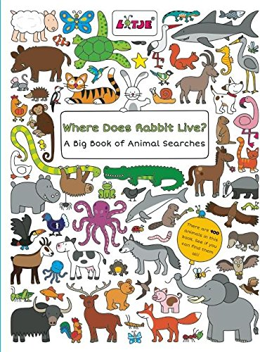9781605372426: Where Does Rabbit Live?: A Big Book of Animal Searches