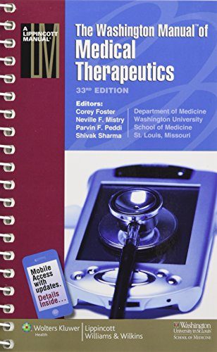 9781605470146: The Washington Manual® of Medical Therapeutics (Lippincott Manual Series (Formerly known as the Spiral Manual Series))
