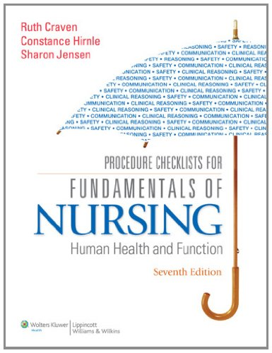 9781605477879: Procedure Checklists for Fundamentals of Nursing: Human Health and Function