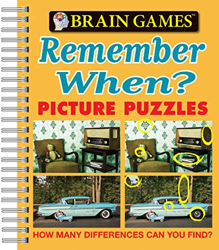 9781605531618: Brain Games® Picture Puzzles: Remember When? - How Many Differences Can You Find? (Brain Games (Unnumbered))