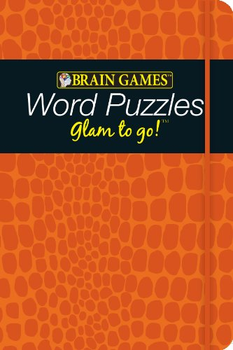 9781605535623: Brain Games Glam to Go! Word Puzzles (orange cover)