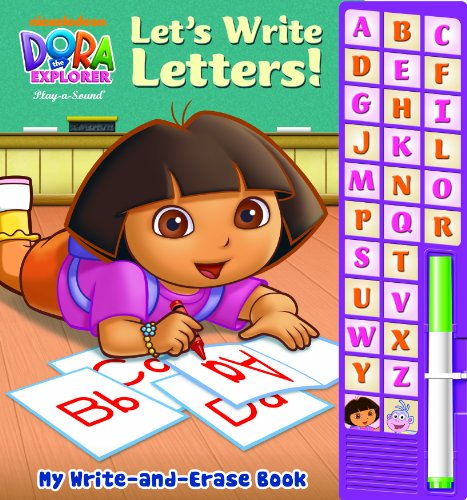 9781605536187: My Write-and-Erase Sound Book: Dora the Explorer Let s Write Letters