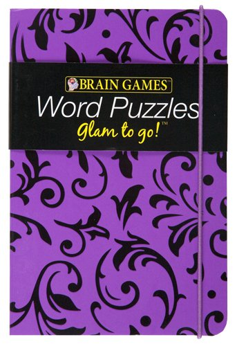 9781605539881: Brain Games Glam to Go! Word Puzzles (purple cover)