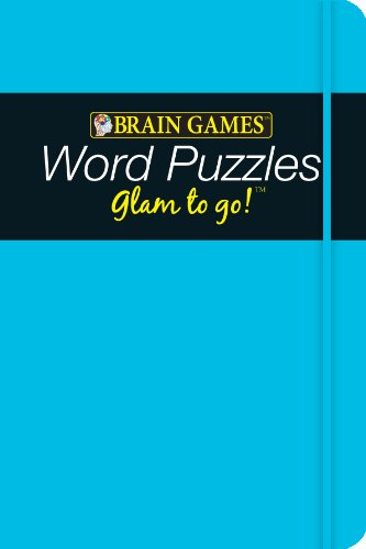 9781605539904: Brain Games Glam to Go! Word Puzzles (blue cover)