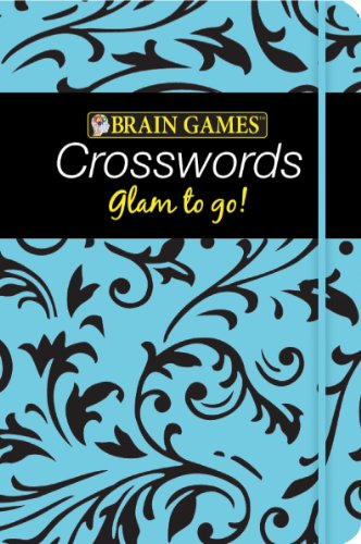 9781605539942: Brain Games Glam to Go! Crossword Puzzles (Blue Cover)