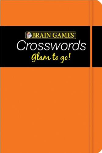 9781605539966: Brain Games Glam to Go! Crossword Puzzles (orange cover)