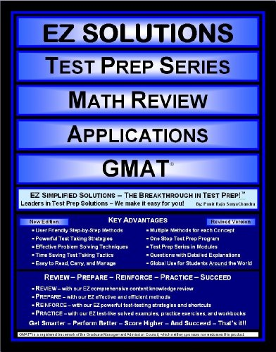 9781605621531: EZ Solutions - Test Prep Series - Math Review - Applications - GMAT (Edition: Updated. Version: Revised. 2015)