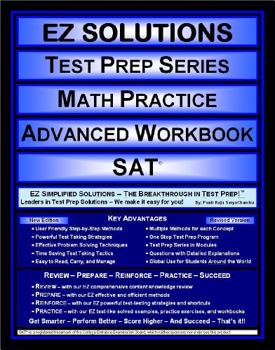 9781605621784: EZ Solutions - Test Prep Series - Math Practice - Advanced Workbook - SAT (Edition: Updated. Version: Revised. 2015)