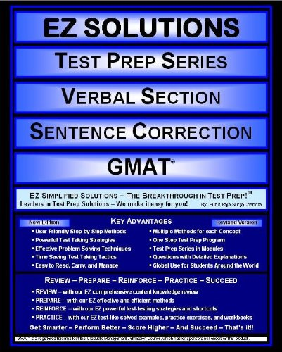 9781605629551: EZ Solutions - Test Prep Series - Verbal Section - Sentence Correction - GMAT (Ez Test Prep Series)