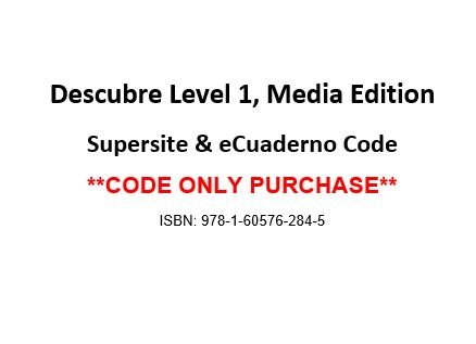 9781605762845: Descubre Level 1, Media Edition, Supersite and eCuaderno CODE - CODE ONLY