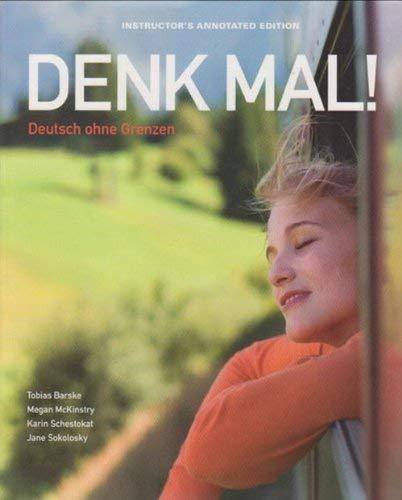 9781605768762: Denk Mal! Deutsch ohne Grenzen