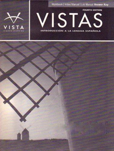 9781605769004 vistas introducci n a la lengua espa ola 4th ed rh abebooks com Vista Lab Machine Vista Labs Lady Lake FL