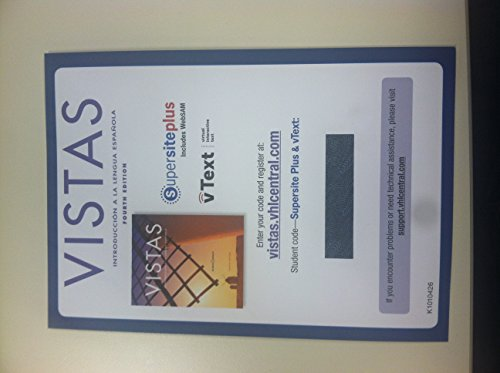 9781605769745: Vistas, 4th Edition, Supersite Plus Code (Supersite & WebSAM & vText) – Code Only
