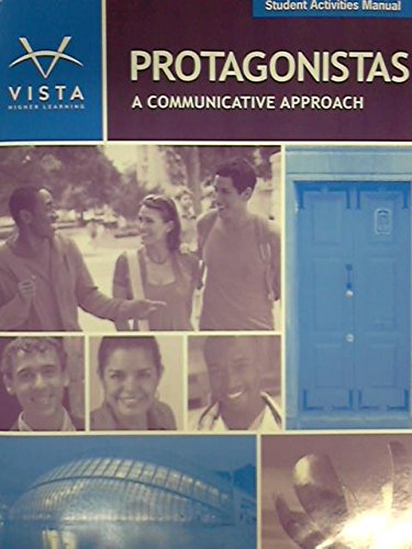 Protagonistas Student Activities Manual: vhl