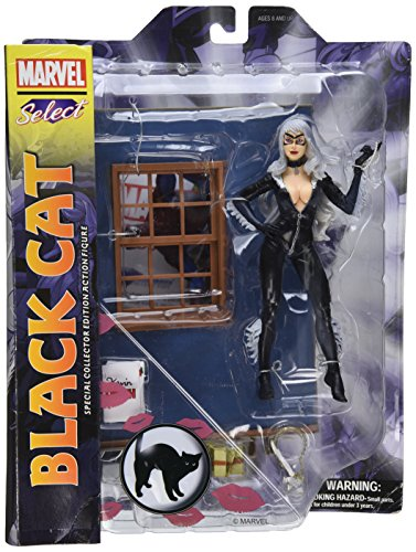 9781605843346: Marvel Select Black Cat: Special Collector Edition Action Figure With Highly Detailed Base