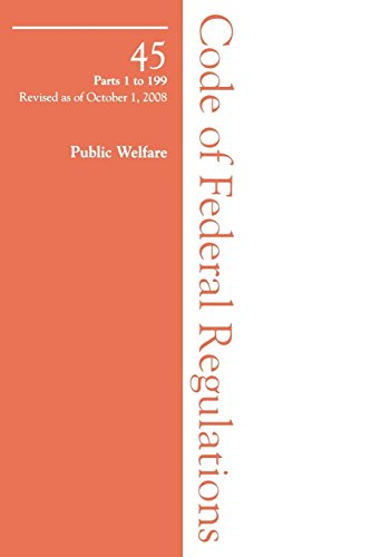 9781605902111: 2008 45 CFR 1-199 (Health and Human Service) (2008 Title 45: Public Welfare)