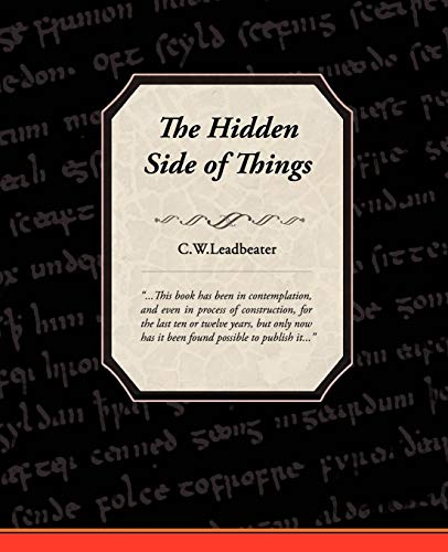 9781605972787: 1: The Hidden Side of Things